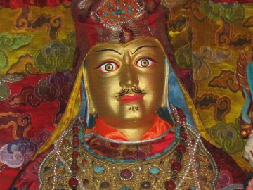 Looks-Like-Me statue of Guru Rinpoche in Samye, the first Monastery in Tibet