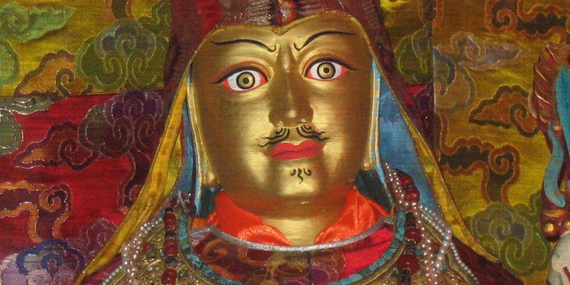 Looks-Like-Me statue of Guru Rinpoche in Samye, the first Monastery in Tibet