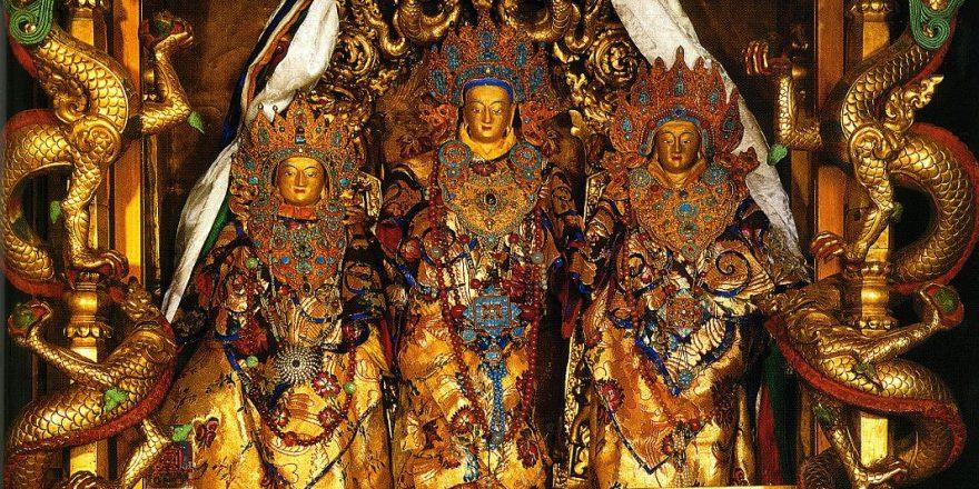 Tibet Lhasa 04 01 Potala Lokeshvara Sandalwood Statue